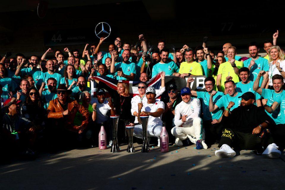 Lewis Hamilton and the Mercedes team