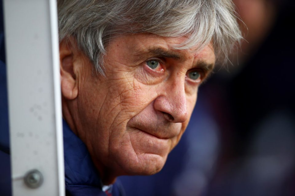 BURNLEY, ENGLAND - NOVEMBER 09: Manuel Pellegrini, Manager of West Ham United looks on prior to the Premier League match between Burnley FC and West Ham United at Turf Moor on November 09, 2019 in Burnley, United Kingdom. (Photo by Clive Brunskill/Getty Images)