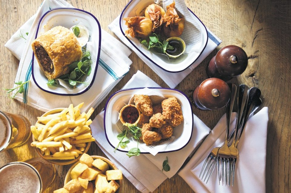 Food at the Victoria Inn, Holkham