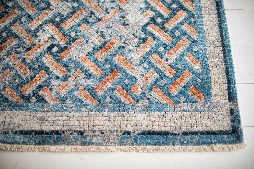 Forget chemicals – these organic rugs are dyed with turmeric and rhubarb