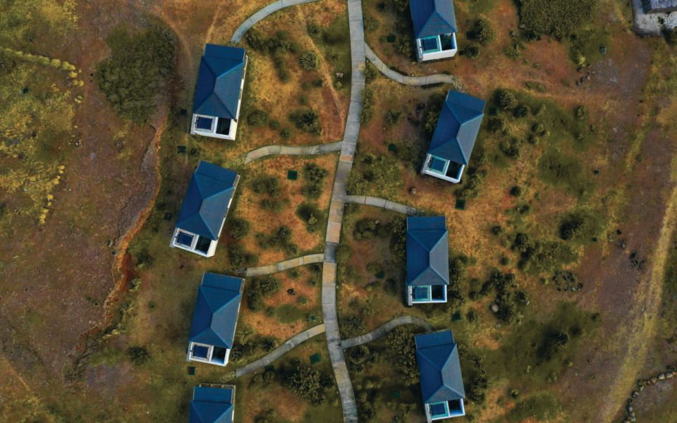 The Tekoma villas from above