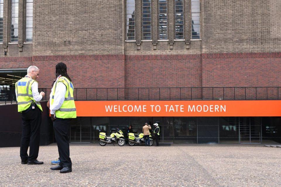 Tate Modern balcony push