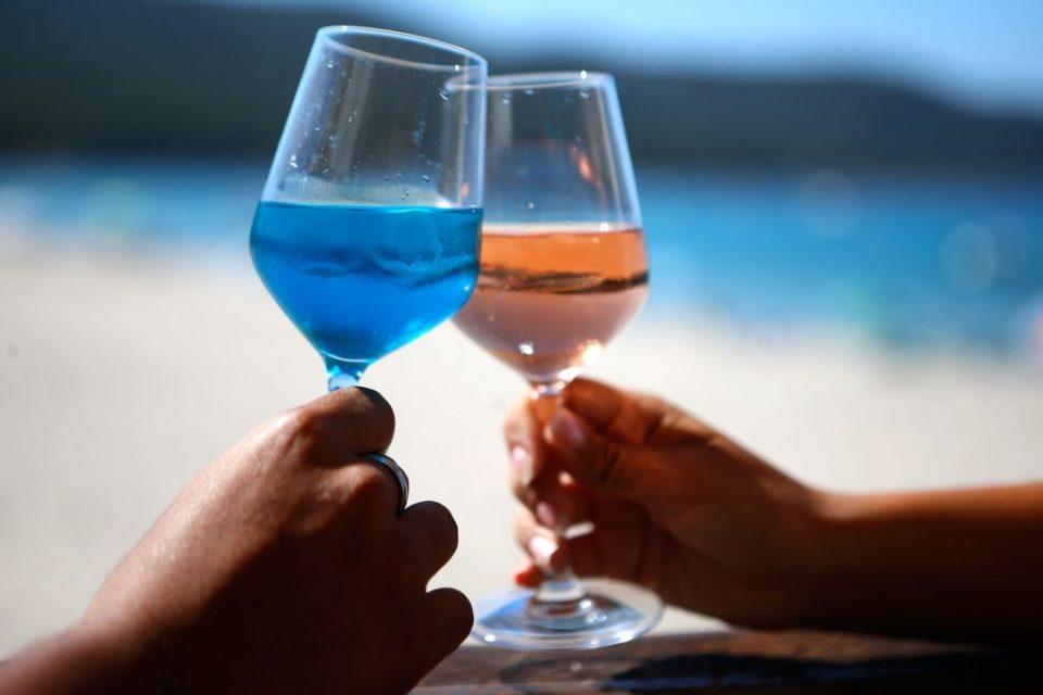 FRANCE-CORSICA-AGRICULTURE-BLUE-WINE
