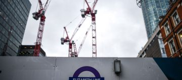 Crossrail construction at Moorgate station for the delayed opening of the Elizabeth Line