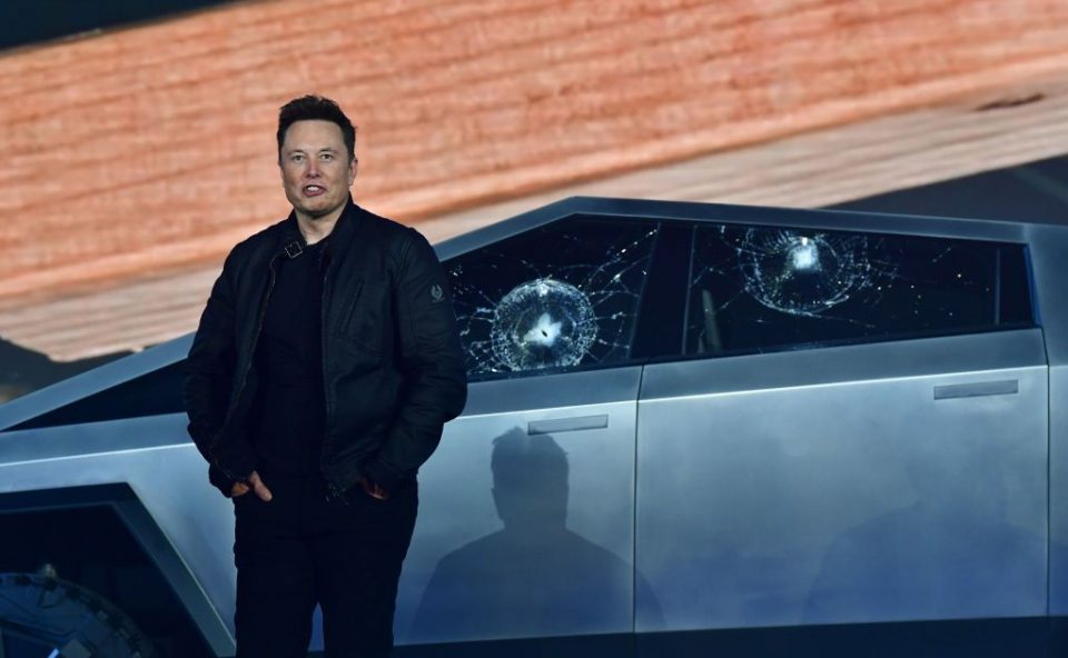 Musk was left embarrassed at the Cybertruck's launch when the window smashed