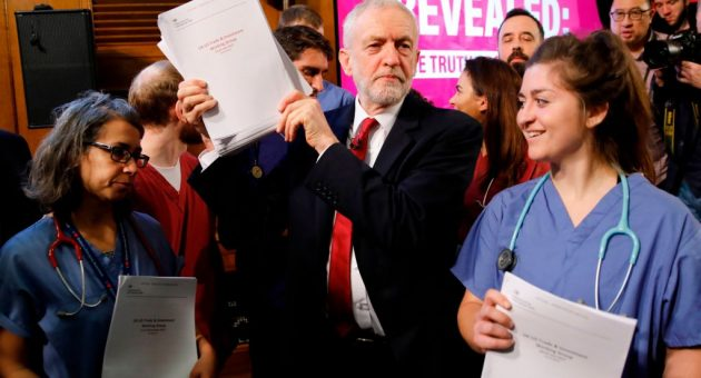 Corbyn defends leaked NHS documents amid 'links to Russia'