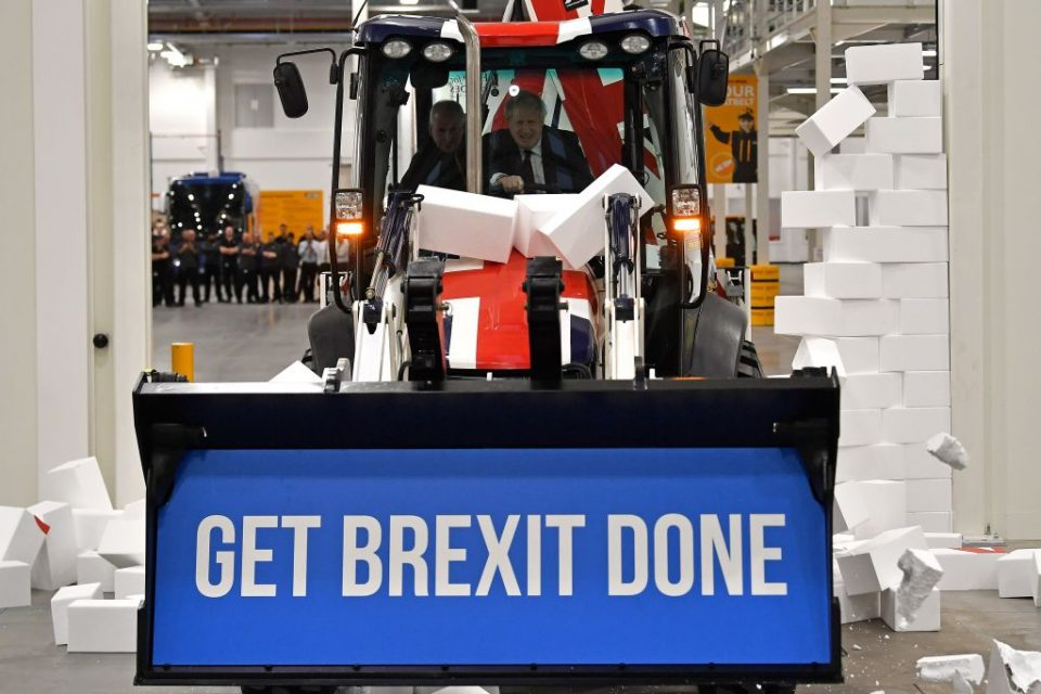 General Election: Boris Johnson breaks Brexit 'gridlock' in JCB digger