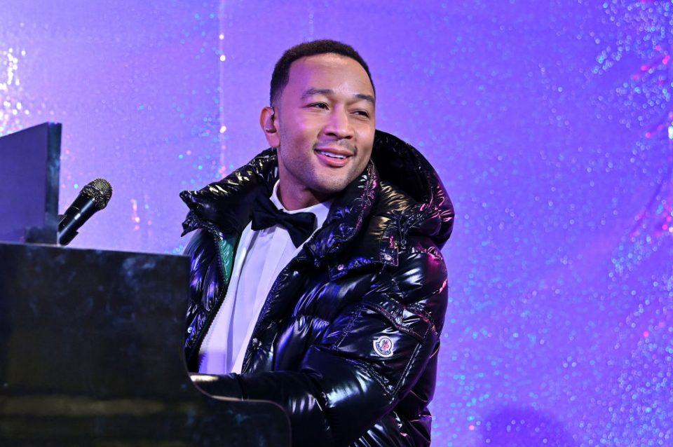 Singer John Legend in a Moncler jacket