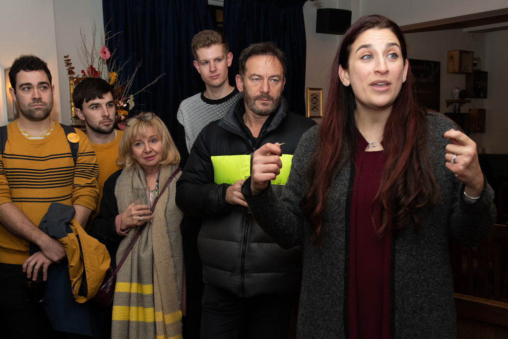 Actor Jason Isaacs campaigns with Lib Dem MP Luciana Berger