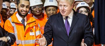 The Queen Visits The Crossrail Station Site At Bond Street