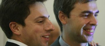 Google founders Sergey Brin (left) and Larry Page