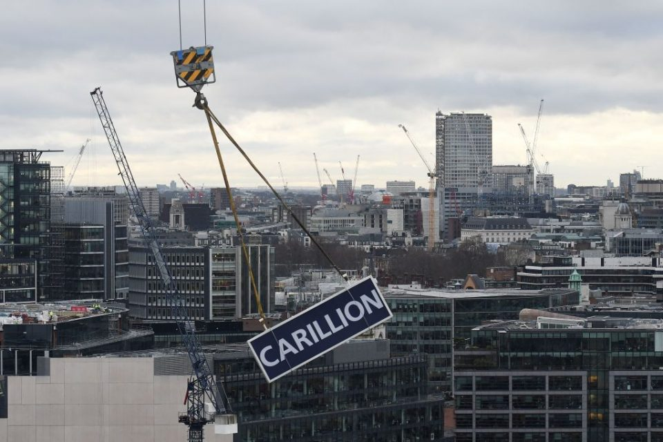Britain's construction industry was hit hard by the collapse of Carillion