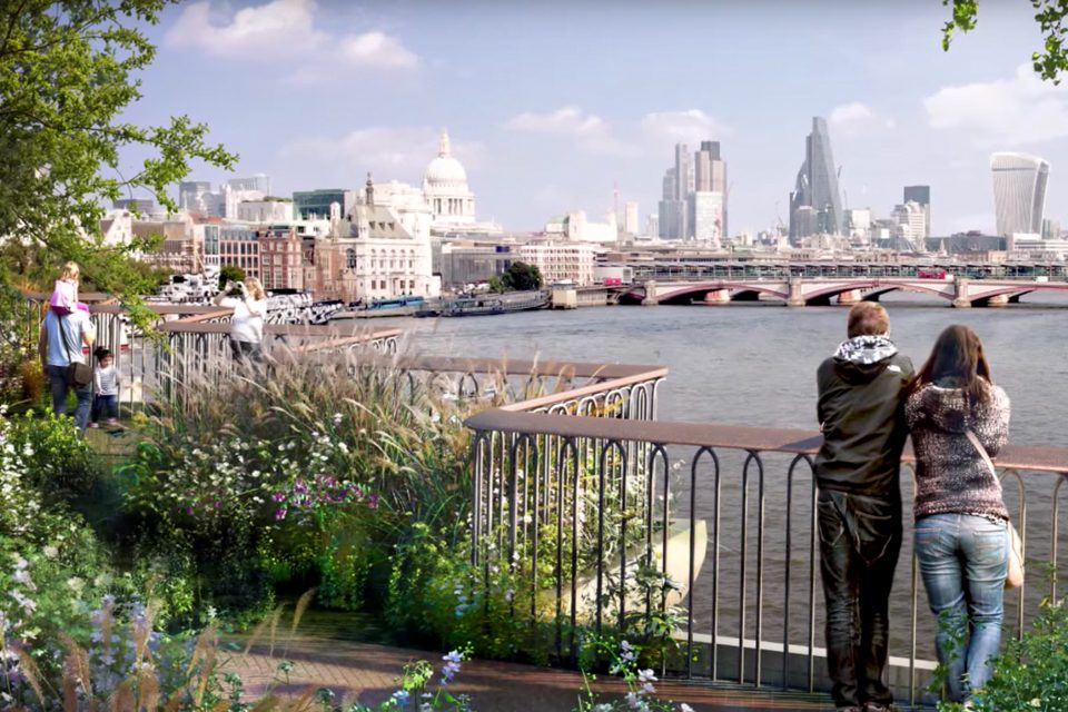 The Garden Bridge was meant to offer views of the City from the South Bank