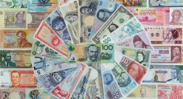 A 100 Australian dollar note (C) is disp
