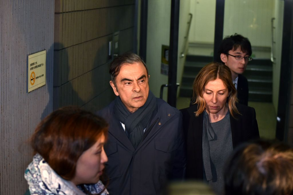 Carole Ghosn was issued an arrest warrant by Japanese authorities
