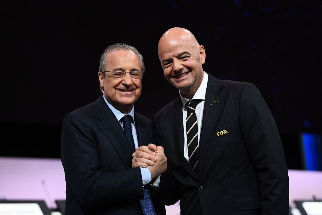 Florentino Perez and Gianni Infantino