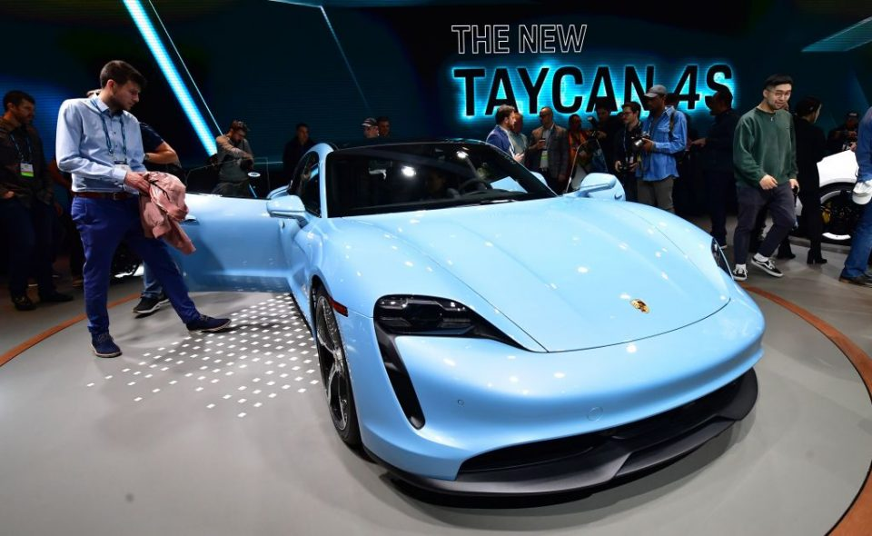 Porsche said its newly-released electric Taycan model would help demand next year