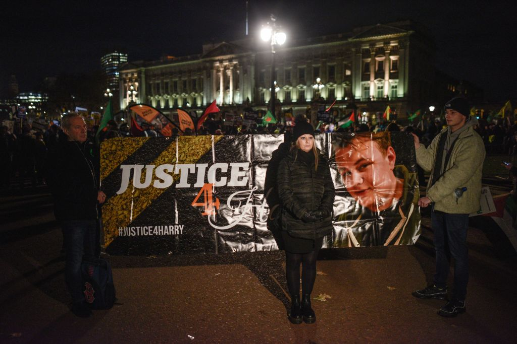 Protesters Demonstrate As NATO Leaders Attend Buckingham Palace Banquet