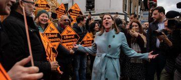 Lib Dem Leader Jo Swinson Campaigns In South East England