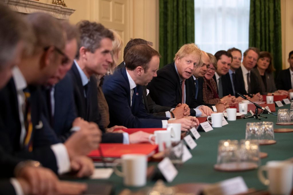 UK Cabinet Meets After The General Election Returned A Tory Majority