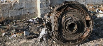 The engine of a Boeing 737 jet that crashed in Iran overnight, killing 176 people