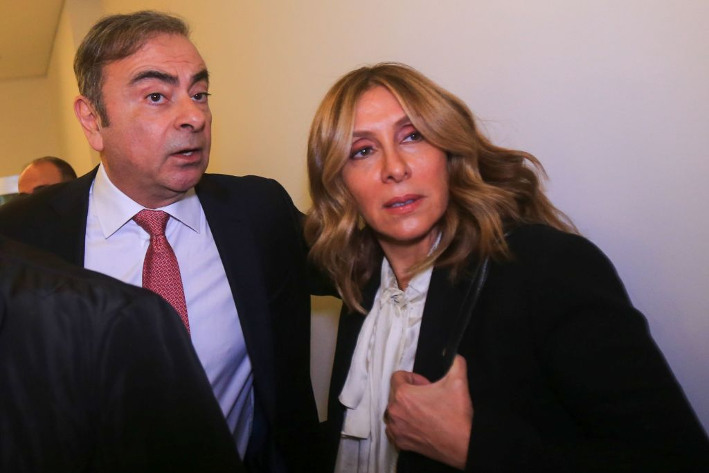 Ghosn and his wife, Carole