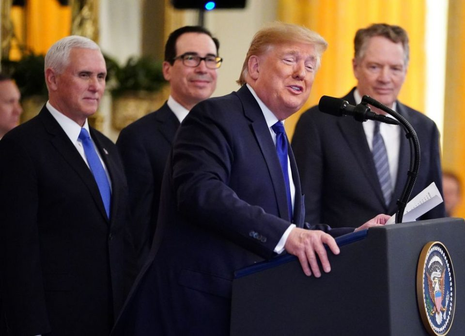 Donald Trump brands China trade deal 'one of the greatest ever'