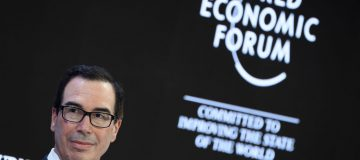 Steve Mnuchin used his Davos address to threaten the UK with reprisals if it pushes ahead with a digital tax