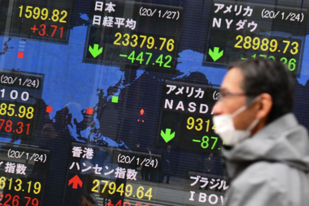 Asian markets in the red as coronavirus fears rise