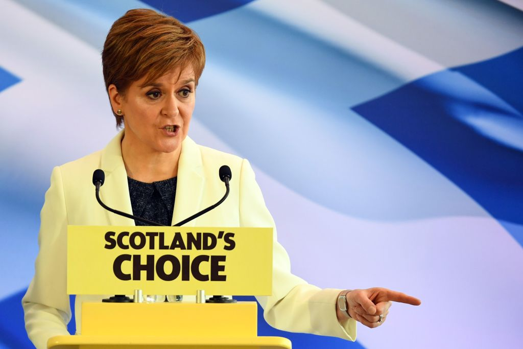 Nicola Sturgeon is pressing the case for a second Scottish independence referendum on Brexit Day