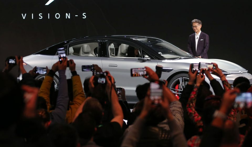 Sony's president unveils the tech firm's concept car