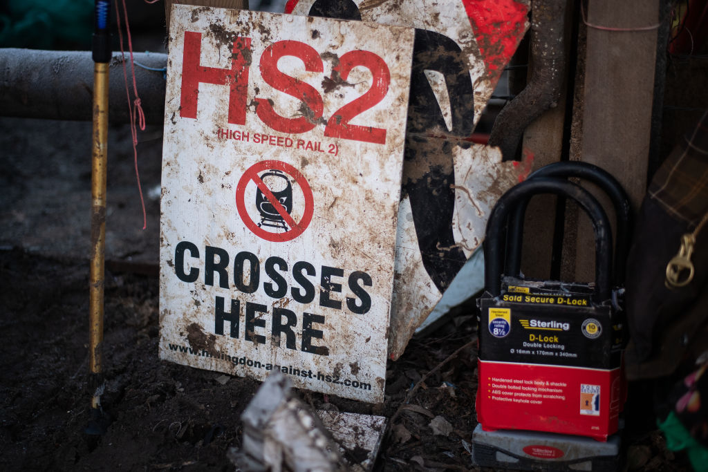 Extinction Rebellion Activists Camp In Colne Valley To Prevent The HS2 Tree Felling