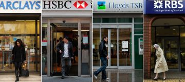 Shares in major British banks rose today on increased optimism about lockdown measures easing globally.