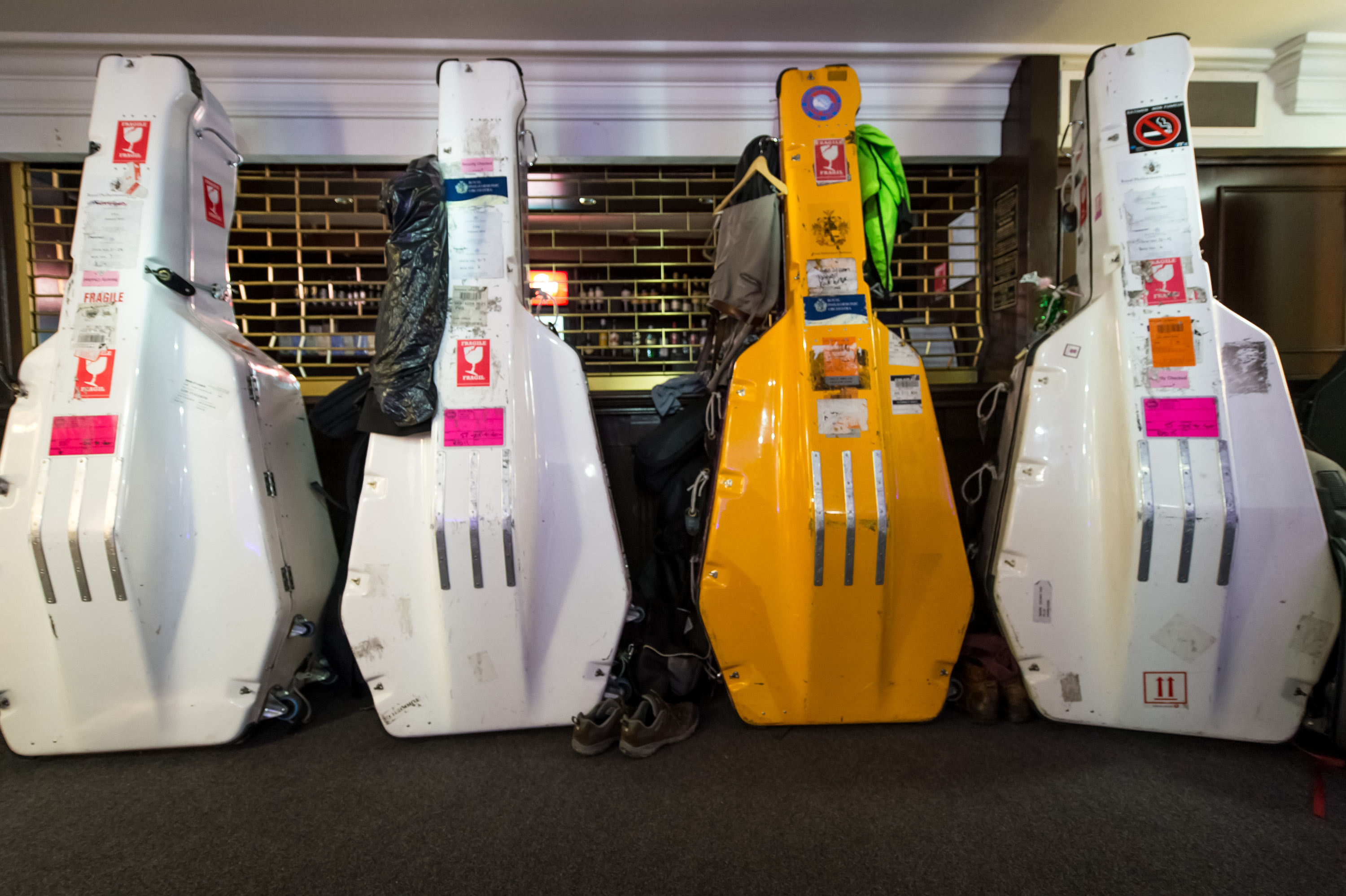 Double bass cases (Getty)