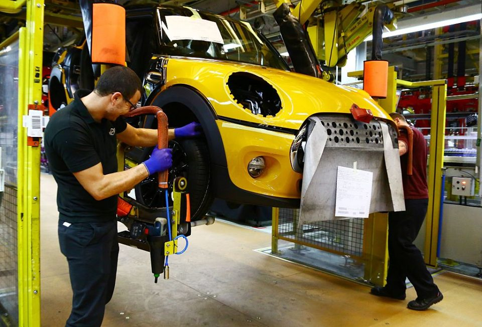 BRITAIN-GERMANY-ECONOMY-MANUFACTURING-MINI-BMW