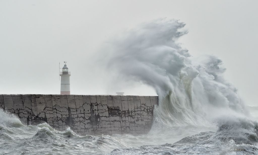 Storm Brendan could produce waves across western parts of the UK and Ireland