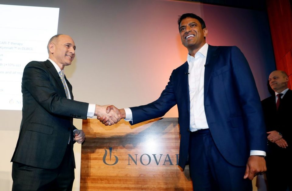 Novartis' chief executive said that the firm's supply chain was not being disrupted by the coronavirus as the Swiss drugmaker predicted rising profit in 2020.