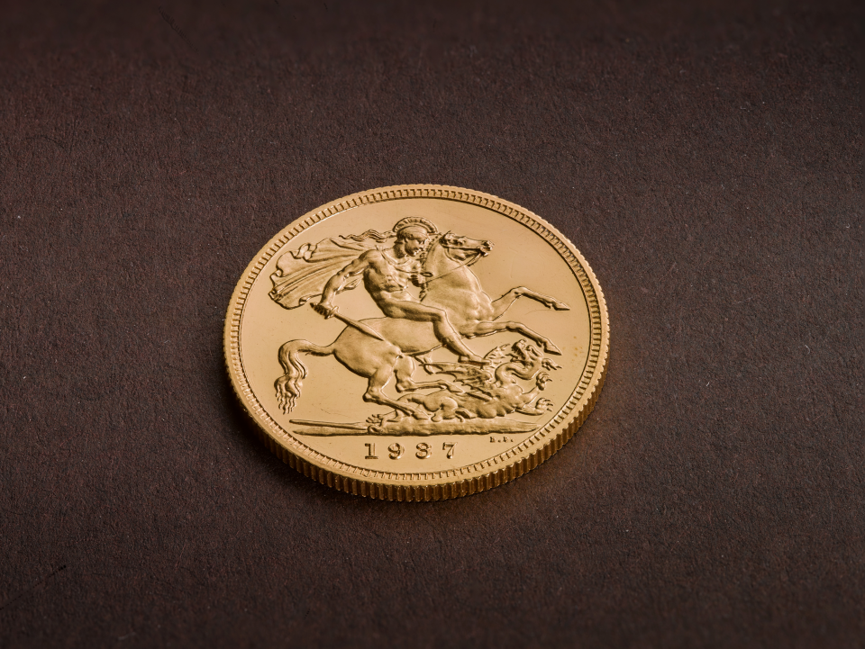 The reverse side of the 22-carat Edward VIII coin
