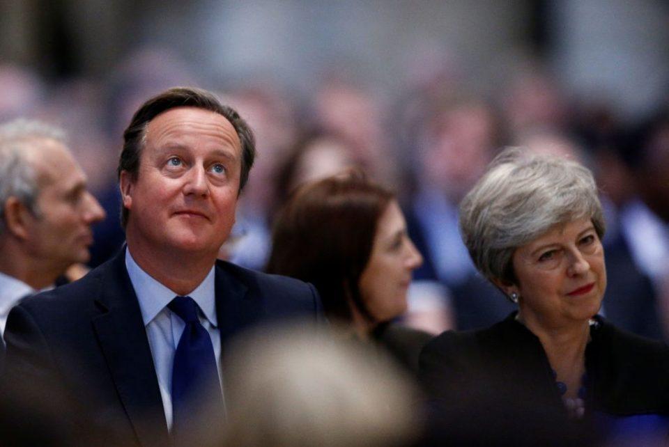 David Cameron and Theresa May