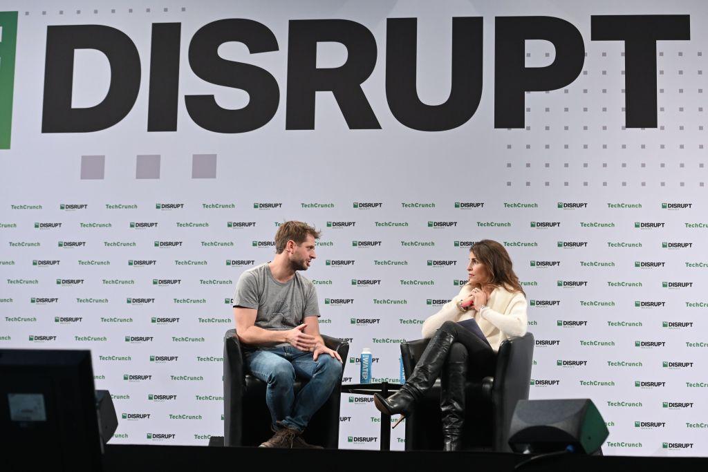 Co-founder and CEO of Klarna Sebastian Siemiatkowski (left) in 2019