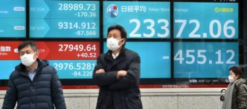 Japan's Nikkei sinks after global stocks' Covid-19 plunge