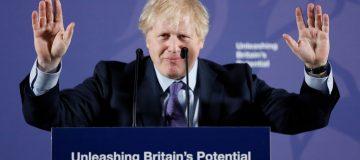 "Boris Johnson Makes Post-Brexit Speech ""Unleashing Britain's Potential"""