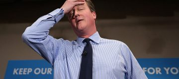 David Cameron Makes Campaign Speech In London