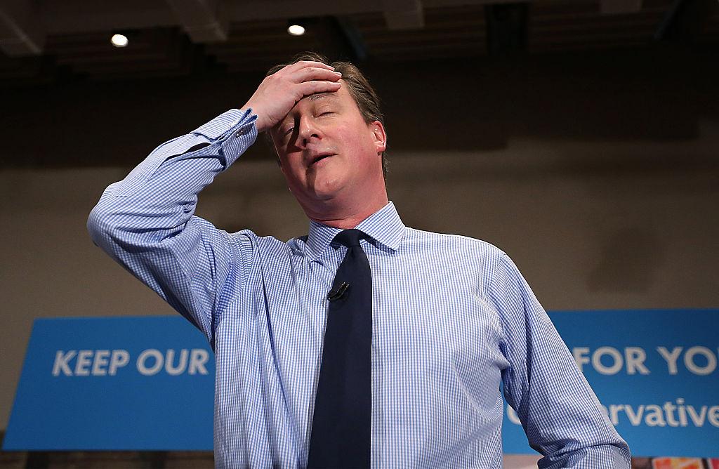David Cameron Makes Campaign Speech In London