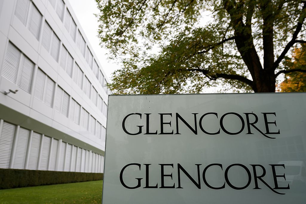 Shares in global miner Glencore rose five per cent this morning as the firm brushed off lower production volumes of metals such as copper, gold and silver.