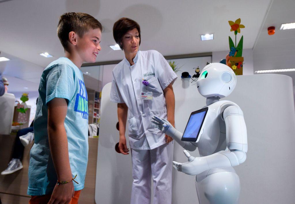 BELGIUM-SCIENCE-ROBOTIC-HOSPITAL-ROBOT-PEPPER