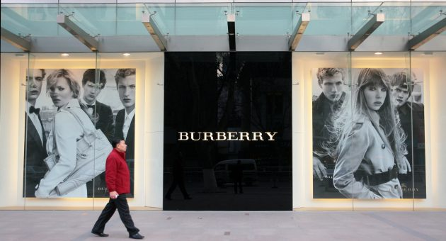Fund managers are snapping up luxury brands such as Burberry amid the coronavirus dip
