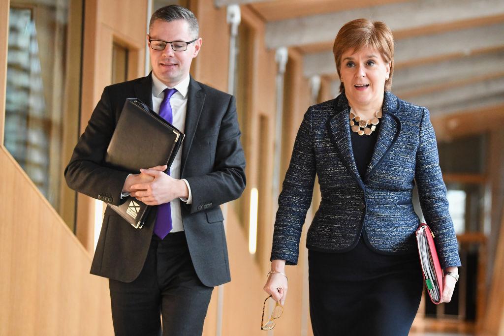 Derek Mackay (left) with first minister Nicola Sturgeon