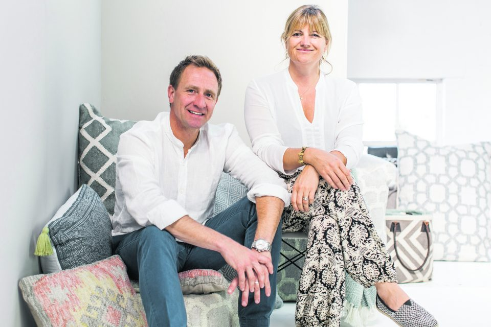 Barney and Tasha Green of sustainable textiles company Weaver Green