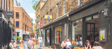 Camden Passage off London's Upper Street, where flat prices have spiked in the last decade.